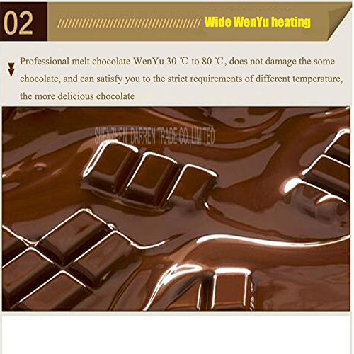 Commerical Three-cylinder Electric Chocolate Fountain Fondue Hot Chocolate Melt Pot Melter Machine (110V) by Hanchen Instrument® (Image #6)