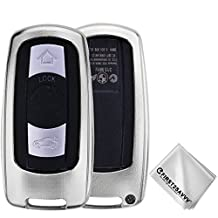 First2savvv Alumium Hard Keyless Remote Key Fob Flip Key Protection Case Cover Side Blades For BMW 3 Series (2005-2012), BMW 5 Series (2006-2010), BMW 6 Series (2006-2007), BMW M3 (2009-2013), BMW M5 (2005), BMW X5 (2008-2013), BMW X6 (2008-2013) (please check compatibility from product photo) - CAR-BMW-XX-C16