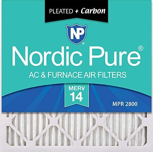 Nordic Pure 20x 20x 1m14+ C Merv 14plus Carbon AC Ofen Filter 20x 20x 1Merv 14plus Carbon AC Ofen Filter 2Stück