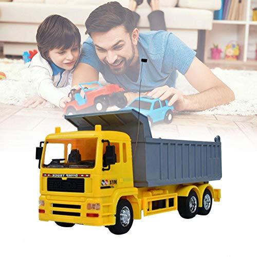 RC Dump Truck Authorized by Mercedes-Benz Arocs Remote Control Heavy Duty Construction Vehicle,6 Channel 2.4G Hobby Electronics Toys with Lights and Sounds for Kids by dissylove ()