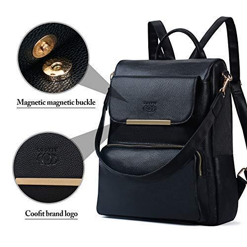 1 Casual Escolares Coofit Monederos Estilo Universidad Mujer Mochilas Negro Moda Con Bolso qwwExHP7C