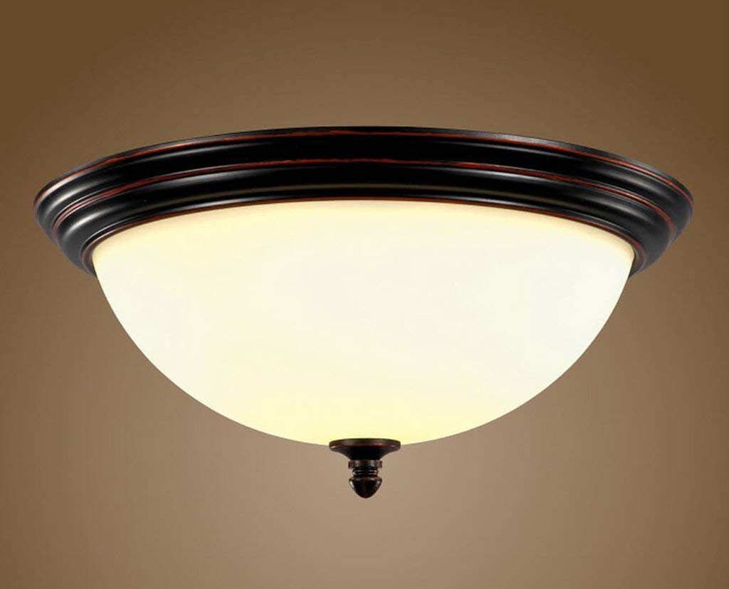 YG Ceiling Light Countryside Ceiling Lamps Irons Retro Lectures Hall Lights Corridors Aisle Lights,Diameter 38cm high 22cm