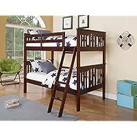 DONCO Kids 312-WL Mission Bunk Bed, Twin/Twin, Walnut