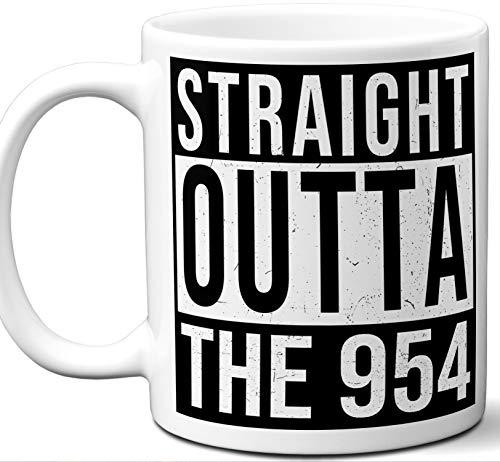 Area Code 954 Mug. Coral Springs, Davie, Deerfield Beach, Fort Lauderdale, Hollywood, Lauderhill, Margate, Pembroke Pines, Plantation, Pompano Beach, Sunrise, Tamarac, Florida.