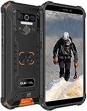 OUKITEL WP5 PRO(2020) Outdoor Smartphone, 4G IP68 Waterdichte Ontgrendeld Mobiele Telefoons,8000mAh Batterij,4GB 64GB Outdoor Telefoon,Android 10.0 Globale Versie, 5,5 inch Gezicht/Vingerafdruk ID GPS (Oranje)