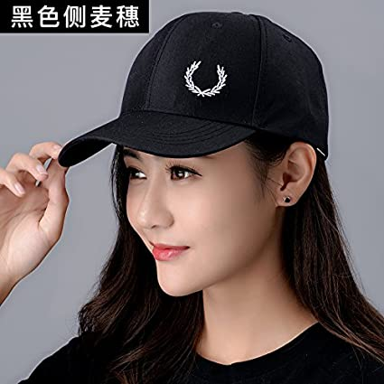Amazon.com: Female Fashion hat Summer Baseball Cap Hat Peaked Cap Embroidery,Adjustable,- Foliage - Black: Kitchen & Dining
