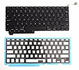 BESTeck US Black Keyboard with Backlight For 17 Inch MacBook Pro Unibody A1297 2009 2010 2011 2012 MB604LL/A MC226LL/A MC227LL/A MC024LL/A MC725LL/A MD311LL/A (1 Year Warranty)