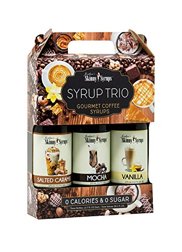 - Skinny Syrups - Classic Syrup Trio Contains 3 Bottles Vanilla, Mocha , Salted Caramel