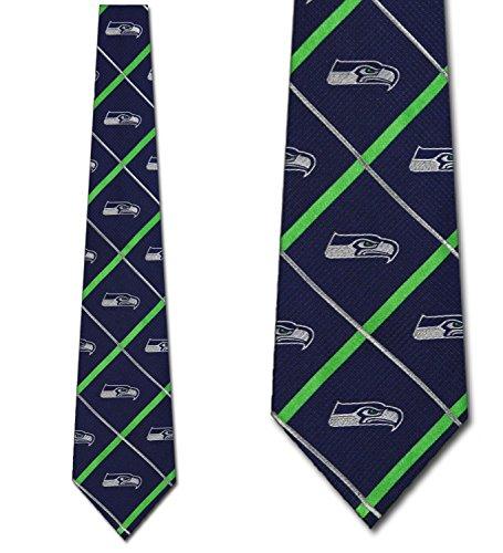 Seattle Seahawks Ties Silver Line Mens Silk Neckties
