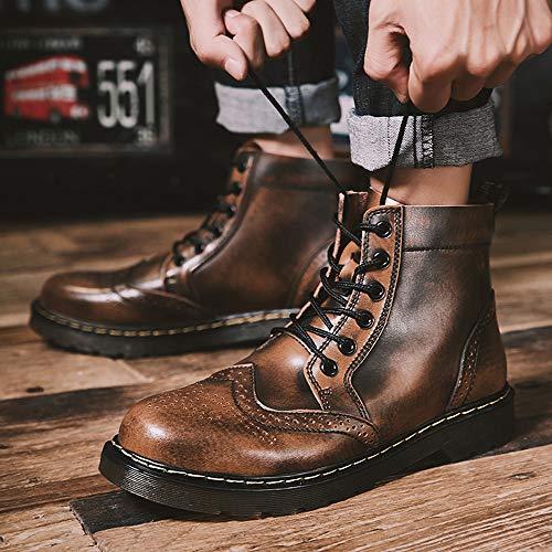 Hommes Automne Manadlian Bottes Homme Chaud Hiver Marron Bottines Chauds Pour Et Chaussures YYpRwH