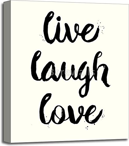 Live, Laugh, Love phrase Gallery Wrapped Canvas Art (24in. x 20in.)