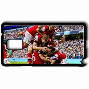 Personalized Samsung Note 4 Cell phone Case/Cover Skin Arsenal Football Club Gunners Players Celebrate Podium Black