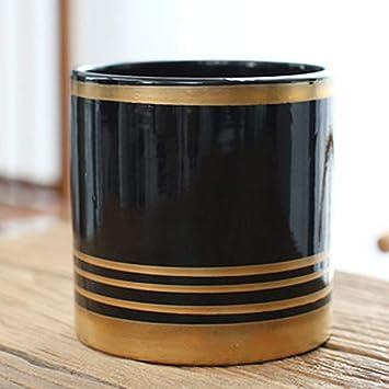 Maceta de cerámica con diseño de cilindro redondo de Better-Way para plantas suculentas de