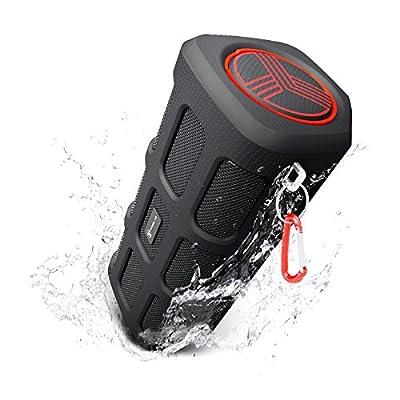 TREBLAB FX100 Bluetooth Speaker - Waterproof, Dustproof, Shockproof. Best Outdoors Wireless Speakers w/ Portable 7000mAh Powerbank, Loudest HD Audio Sound w/ Deep Bass, Loud Speakerphone, 2017 Model