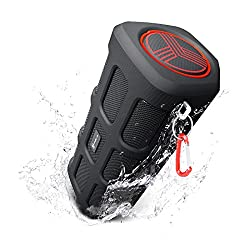 Treblab Fx100 - Extreme Bluetooth Speaker - Loud, Rugged For Outdoors, Shockproof, Waterproof Ipx4, Built-in 7000mah Power Bank, Hd Audio W Deep Bass, Portable Wireless Blue Tooth Microphone Mic