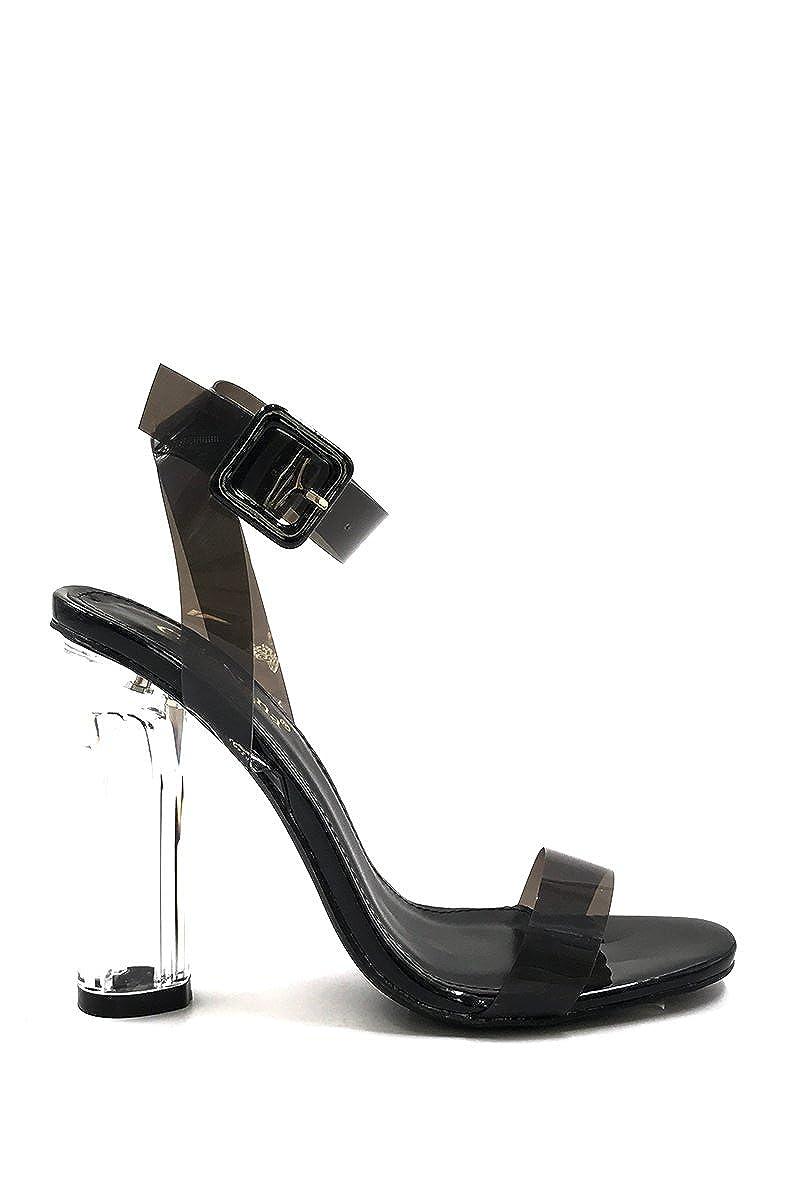 CHIC NANA Bride Cheville Transparent. Chaussure Femme Mode Escarpin /à Talon Transparent
