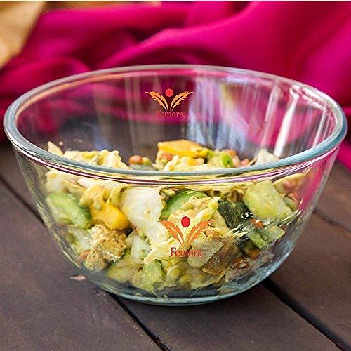 Femora Borosilicate Glass Microwave Safe Mixing Bowl – 3600 ML Price & Reviews