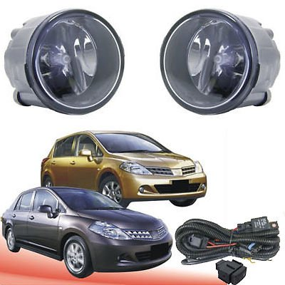 Amazon.com: Auto-Tech Fog Lights Lamps Fit For NISSAN TIIDA 2009~2010 Front fog lamp assembly kit (one Pair): Automotive