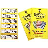 Tambola Bingo Tambola Tickets: Yellow Border