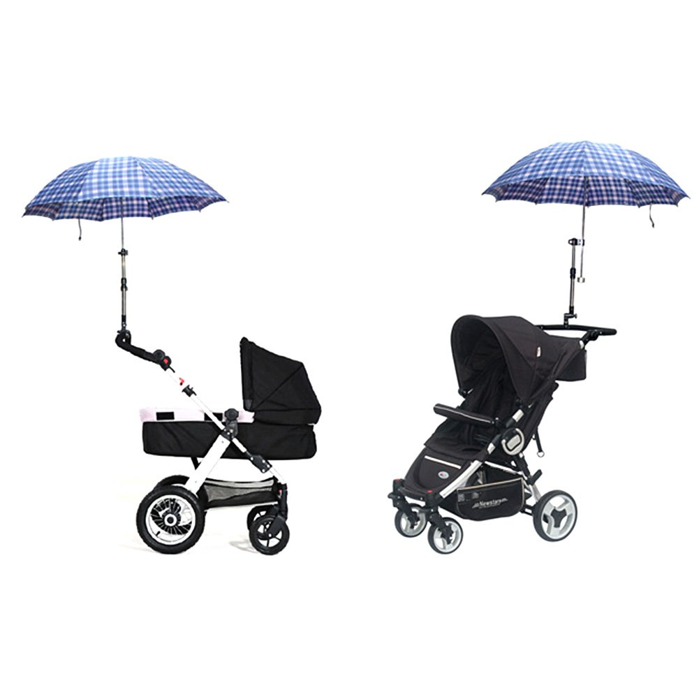 Zcargel Adjustable Umbrella Stand Holder Baby Stroller UV Protection Clip-On Sun Canopy Parasol Holder by Zcargel