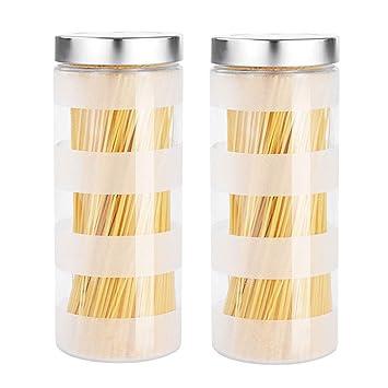 Botellas de vidrio Latas selladas Cocina Comida Mermelada Café Té Granos Almacenamiento Tarro XIN (Capacidad