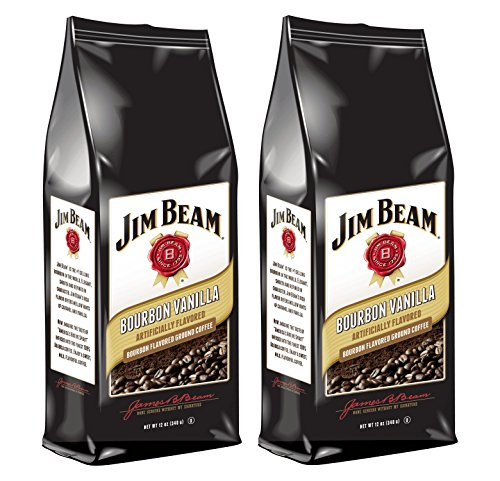 Jim Beam Bourbon Vanilla Bourbon Flavored Ground Coffee, 2 bags (12 oz ea.)