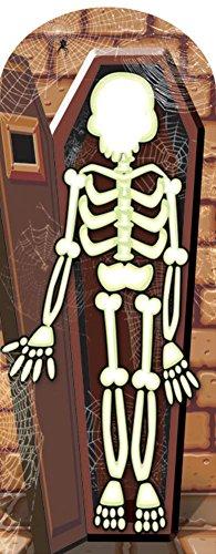 Skeleton Stand-In Cardboard Cutouts 73 x