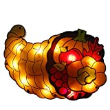 Northlight 20'' Lighted Cornucopia Thanksgiving Window Silhouette Decoration