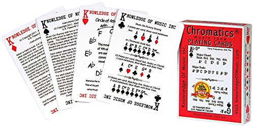 Hal Leonard Chromatics Music Playing Card Deck