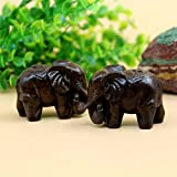 Labu Store 2pcs/lot Artificial mini Elephant Animal fairy garden miniatures gnomes moss terrariums resin crafts figurines for home decor