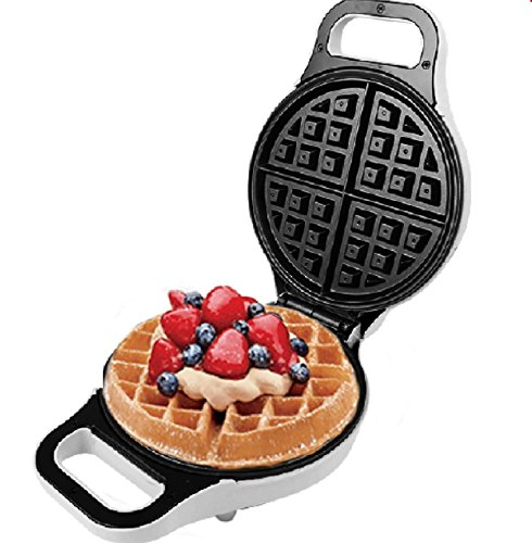 J-JATI Electric 10Round Waffle Maker Iron None Stick Surface Rotary Plate SW228-W
