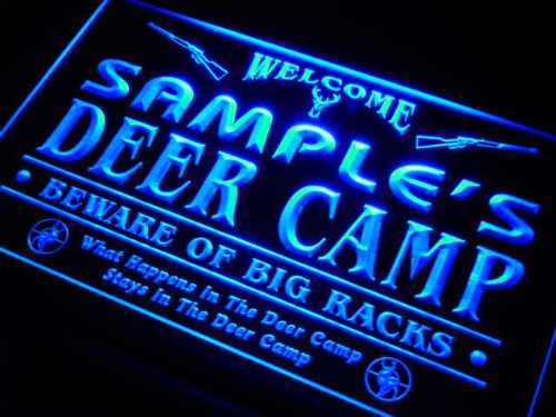 tu-tm Name Personalized Custom Deer Camp Big Racks Bar Beer Neon (Custom Deer)