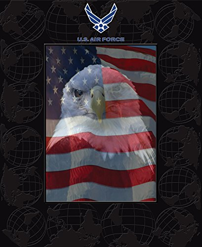 US Air Force Photo Frame - 5 x 7 Vertical Photo - Features Raised Pattern on Frame - By Church Hill (Air Force Photo Frame)