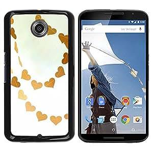 Paccase / SLIM PC / Aliminium Casa Carcasa Funda Case Cover para - Brown Sky Love White Art - Motorola NEXUS 6 / X / Moto X Pro