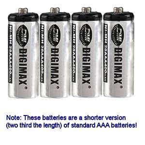 2 x Digimax 2/3 AAA 400 mAh baterías recargables para teléfonos Xi iDect, Xii x11, 28AAA (122 horas)