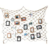 Fishing Net Style Wall Hanging Picture Photo Display Artworks Prints Cards Holder Hanger Organizer Home Apartment Dorm Room Decoration