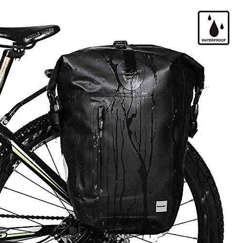 Waterproof Pannier - Rhinowalk Bike Bag Waterproof Bike Pannier Bag 25L,(for Bicycle Cargo Rack Saddle Bag Shoulder Bag Laptop Pannier Rack Bicycle Bag Professional Cycling Accessories)