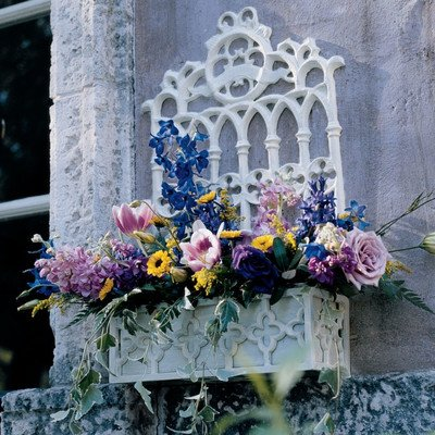 Design Toscano Cast Iron Gothic Revival Flower Box by Design Toscano