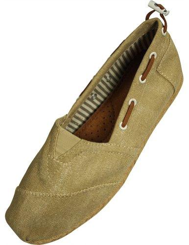 Farasion - Damesschoenen Instapper Loafer Beige