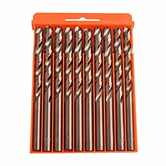 Generic 1mm : Flexsteel Tools M35 Cobalt Drill Bit Set,HSS-CO Drill Set 1.0-10MM, for Drilling on Hardened Steel, Cast Iron & Stainless Steel