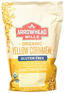 Arrowhead Mills Organic Gluten Free Yellow Corn Meal, 22 Ounce (Pack of 6)