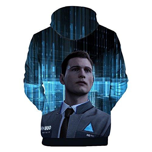 Become Human Hoodie 3D Printed Hooded Pullover Sweatshirt Game Cosplay Costume
