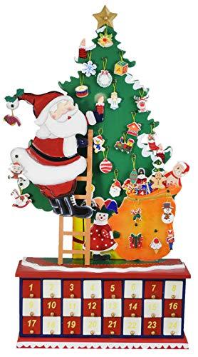 [해외]Needzo Hand Crafted Countdown to Christmas Wooden Advent CalendarDoors Santa Claus Climbing The Christmas TreePresents / Needzo Hand Crafted Countdown to Christmas Wooden Advent CalendarDoors Santa Claus Climbing The Christmas Tree...