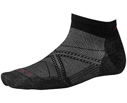 SmartWool Men's PhD Run Light Elite Low Cut Socks (Black) - Cut Elite Socks Low