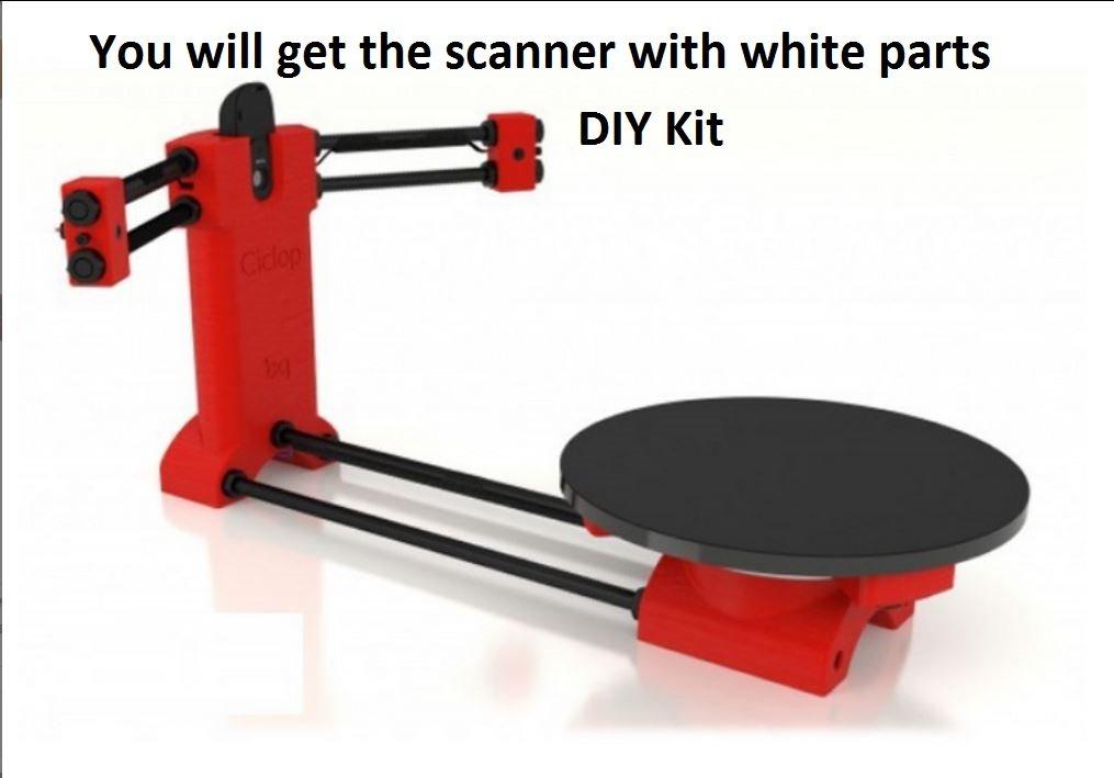 BQ Ciclop DIY 3d – Escáner para 3d printer-white Color partes, Kit ...