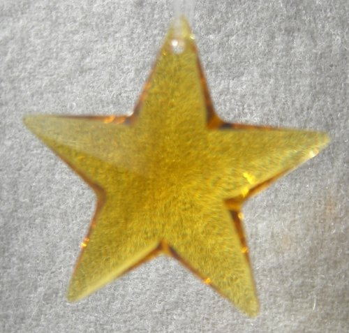 Swarovski 28mm Topaz Crystal Star Prism Topaz Crystal Star