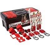 Brady Personal Breaker Lockout Toolbox Kit, Includes 3 Safety Padlocks