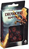 Dungeons and Dragons Dice 7 (Black and Red)