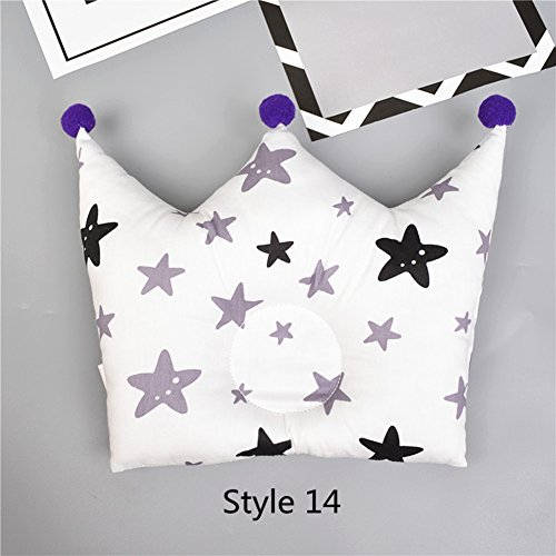 Elibeauty Baby Pillow Crown Shape Prevents Children's Flat Head Crown Point Bedding Pillow Newborn Child Bedroom Decoration Accessories Style 14
