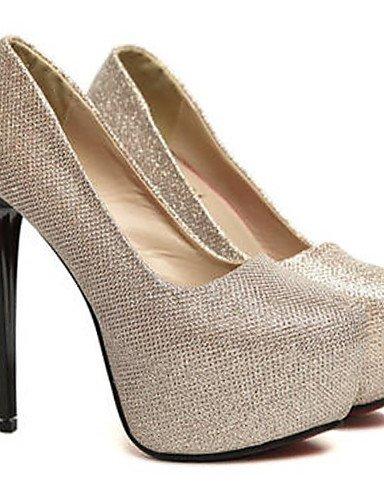 GGX/ Damenschuhe-High Heels-Kleid / Party & Festivität-PU-Stöckelabsatz-Komfort / Rundeschuh-Schwarz / Gold black-us8.5 / eu39 / uk6.5 / cn40